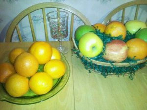 A bowl of oranges will also boost your health as well as your spirit.