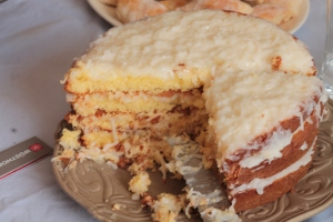 Yummy coconut cake from Mayberry Cafe cookbook