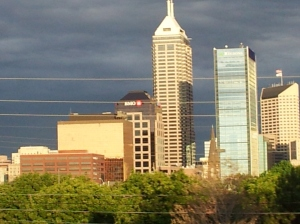 I love the way the buildings in Indy look when the sun is coming up. (June 2012)