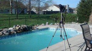 My awesome camera set up on the tripod for sun and moon pictures.