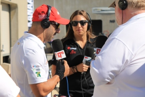 Tony Kanaan and Simona DiSilvestro