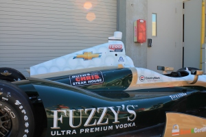 Ed Carpenter's car before he won the pole at Indianapolis Motor Speedway 2013