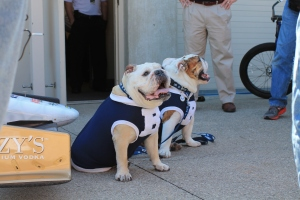 Butler Bulldog's mascots Blue II and Blue III