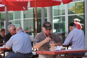 No matter what age, you can enjoy some good food on the Pagoda Plaza at IMS.