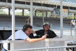 Dave Calabro (voice of the 500) and Charlie