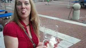 Me at the strawberry festival being sassy to my husband. The shortcake was YummmmOOO!