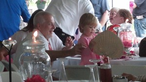 A proud Papaw and his beautiful granddaughter at a wedding I went to this weekend.