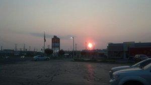 Hot summer sunrise in Indiana!