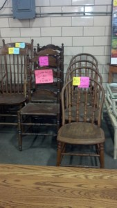 Anna!!! I know your beautifully re-finished and trendy antique chairs are definitely worth twice these are going for!