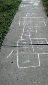 I had hopscotch to make my walk fun last night!