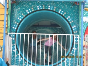 Me and Emme having fun in the FunHouse!