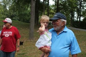 Great-grandpa Bob Yeley and Charlotte.