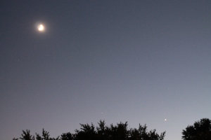 Crescent Moon and  Venus 10-09-2013