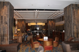 The lounge area at the J.W. Marriott Indianapolis.