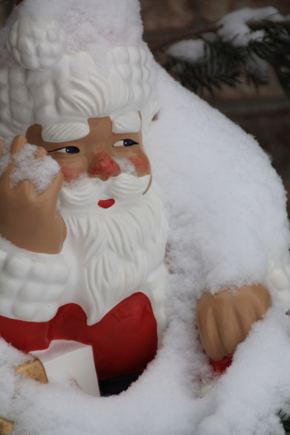 Santa looks like he needs some cocoa!