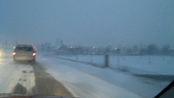 This was the morning drive to work on January 21, 2014