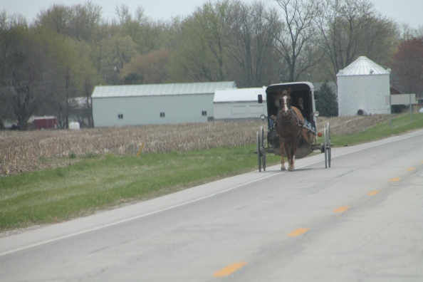 The Amish culture is alive and well out here. They did not see me taking their picture. I hear they do not like that.