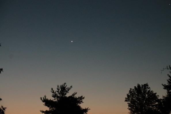 The morning start Venus blazing the start of the day.