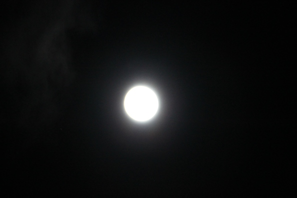 The moon last night Sept. 7, 2014