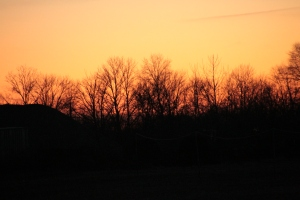 The Indiana Winter sun sets. January 2015